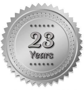 23 Years Seal