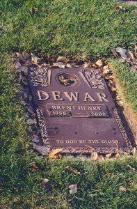 Brent Henry Dewar's Grave